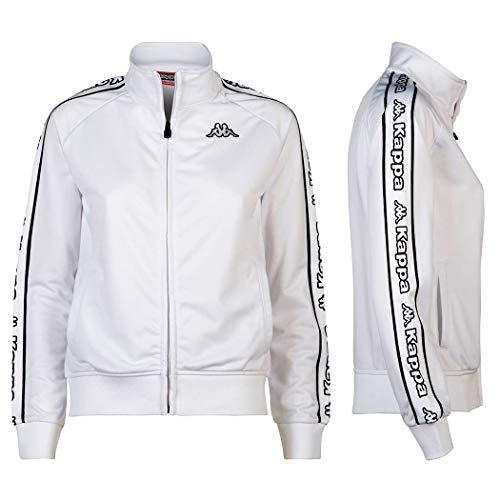 Kappa sweatshirt zwart zip hals met opstaande kraag en Banda logo tape Alero. Kleur: Zwart