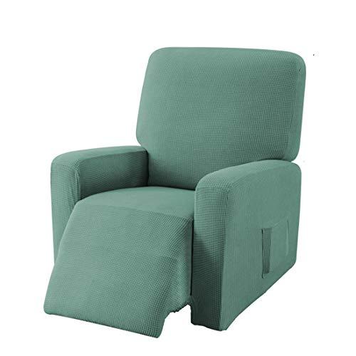 E EBETA Jacquard Funda de sillón, Capuchas elásticas para sillón, Elástico Funda para sillón reclinable (Verde Claro)