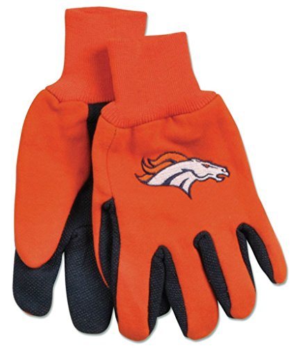 WinCraft NFL Denver Broncos GlovesTwo Tone Style Youth Size Gloves, Team Colors, One Size