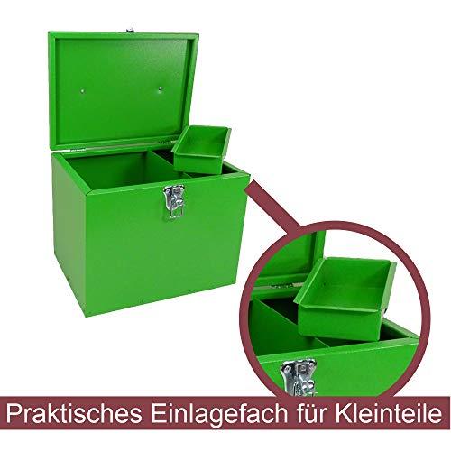 Pferde-Putzbox grün; Putzkiste für Pferde; Pferde-Putzbox; Putzkiste; Putzkasten; Alu-Putzbox, für Reiter und Ihre Pferde entwickelt - 4
