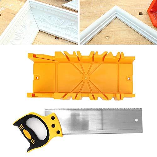 """Caja de ingletes de ABS con 14"""" Sierra de acero de aleación Caja de sierra de ángulo 90°, 45°, 22.5°"""