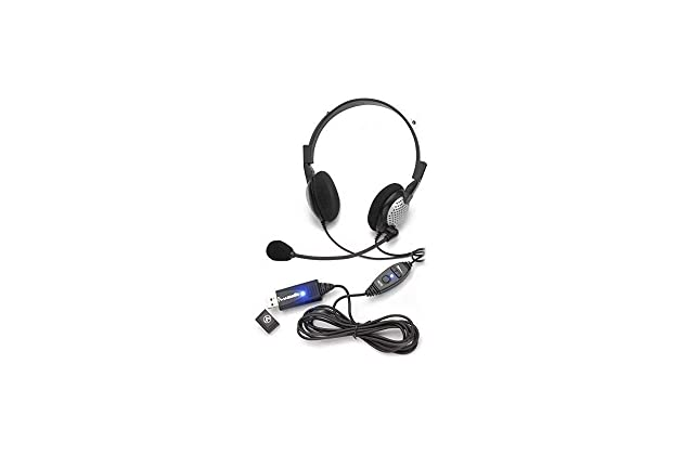 Amazon com: Voice Recognition USB Headset with Noise Cancelling