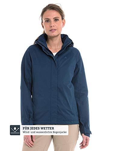 Schöffel Damen Jacket Easy L4 Wasser-und Winddichte Jacke für jedes Wetter, leichte und Flexible Regenjacke für Frauen, Blau (Dress Blues), 48
