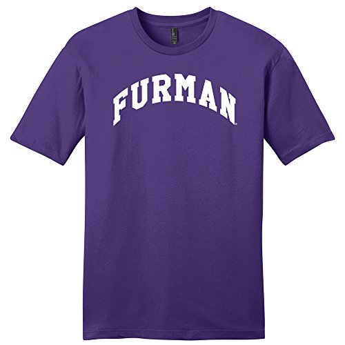 NCAA Furman Paladins Arch Soft Style T-Shirt, Small, Purple