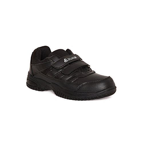 Duke Men's Synthetic Black Coloured School Shoes 11