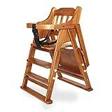 ZXGQF Trona de madera, Silla de comedor para bebés, trona portátil multifunción, ajustable, plegable, para niños y niñas de 6 meses a 4 años (Chair cushion Universal wheel)