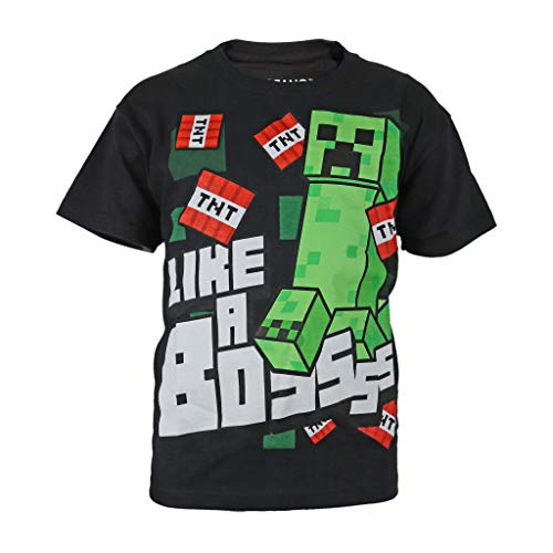 Minecraft Like A Bossss Camiseta de los Muchachos Negro 140
