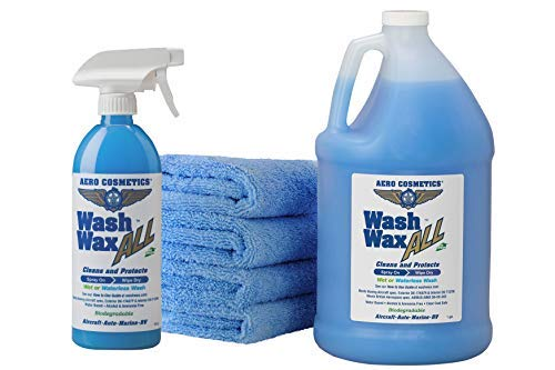 Wet or Waterless Car Wash Wax Kit 144 Ounces....