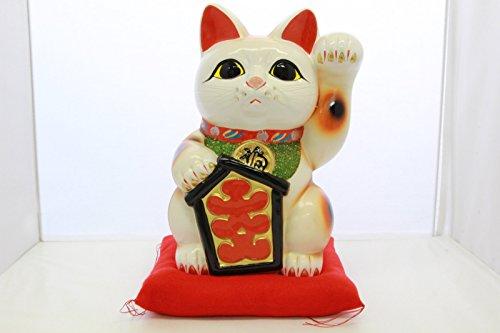 人形のモリシゲ『8号招き猫大入り白左手』
