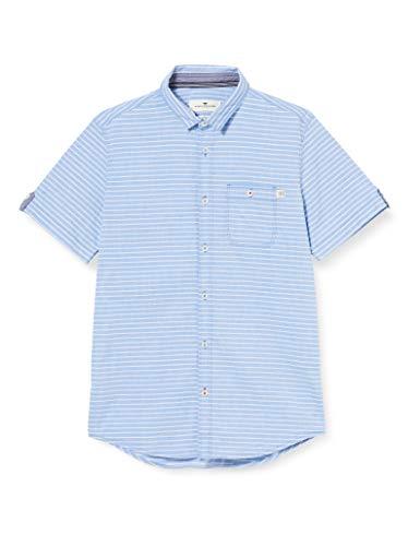 TOM TAILOR Herren Floyd Hemd, Blau ( 22655 - blue pink horizontal ) , L