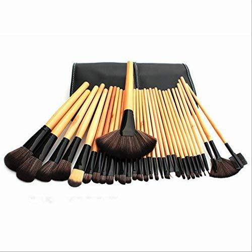 Pinceau de maquillage professionnel 32 Ensembles Outils de beauté pour débutant Un ensemble complet de pinceaux de maquillage, couleur bois