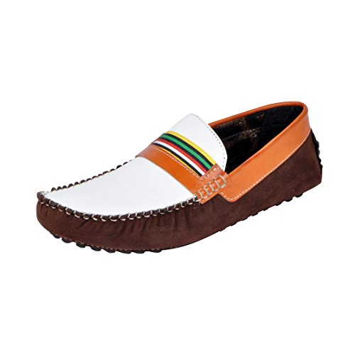 Mocas Men's 888 Brown Loafers - 6 UK