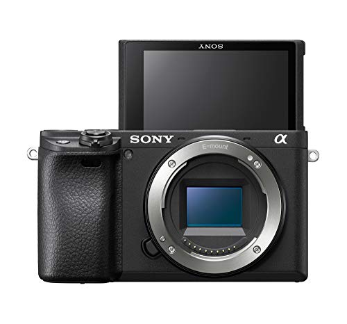 Sony Alpha ILCE-6400 24.2MP Mirrorless Camera Body (APS-C Sensor, Real-Time Eye Auto Focus, 4K Vlogging Camera, Tiltable LCD) - Black