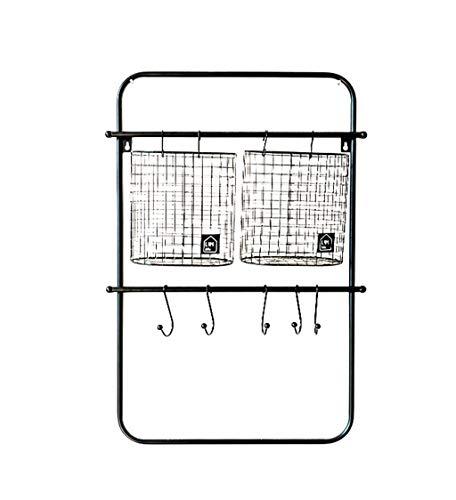 Étagère murale en fer étagère suspendue étagères flottantes étagères cube avec des crochets comme étagère de rangement étagère Vintage décorations Design (Noir) (taille : #1)