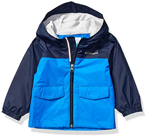 Columbia Boys' Big Rain-Zilla Jacket, Super Blue/Collegiate Navy, Medium