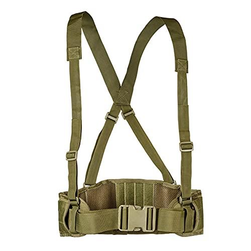 LQMM Cinturón Militar táctico Airsoft Airsoft Airsoft Combate Sling Cinturón de Caza de Hombres Cintura de la Batalla Protector de Cintura Ajustable Bella Protectora Militar 730 (Color : A 2)