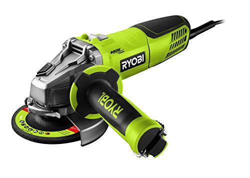 Ryobi 5133002495 Ryobi-RAG950 S125-Smerigliatrice Angolare 950W, 950 W, 0 V, Schwarz, Grün, Scheibe 125 Mm
