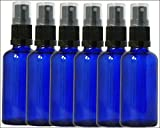 Natural Health 4 Life - Botellas de Cristal (6 Unidades, 20 ml), Color Azul