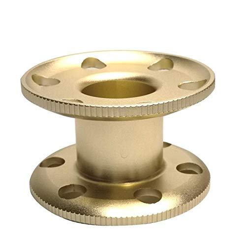 fried Zubehör 3 Farben Aluminium Taucher-Fingerspule Technische Taucher Führungsschnur Spule Blank Spule Unterwasser Ausrüstung Gummi (Farbe: Gold)