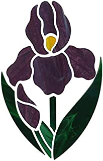 Iris Flower Precut Mosaic Oceanside Stained Glass Supplies Non Fusible 14 pc