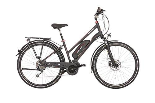 """FISCHER E-Bike TREKKING Damen ETD 1820, Anthrazit, 28"""", RH 44 cm, Mittelmotor 48 V/422 Wh, SHIMANO Deore Schaltung"""