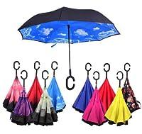 逆さ傘 傘 晴雨兼用 さかさ傘 50種類 さかさま傘 レディース メンズ 日焼け対策 UVカット 逆向き 逆さまの傘 長傘 濡れない (G)