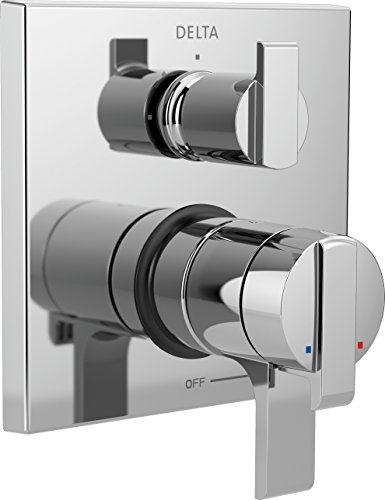 Delta Faucet Ara 17 Series Dual-Function Shower Handle Valve Trim Kit with 3-Setting Integrated Diverter, Chrome T27867 (Valve Not Included)