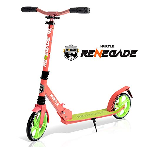Hurtle Lightweight and Foldable Kick Scooter, Watermelon (HURTS89)