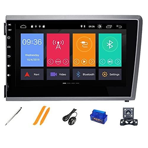 HAZYJT 4gb 2din Android 10 Reproductor De DVD para Automóvil Multimedia GPS Radio Navegación IPS Dsp Compatible con Vo-lvo S60 V70 Xc70 Xc90 2000-2004