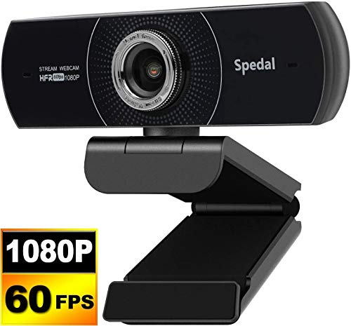 1080P 60fps Webcam with Microphone for Desktop, PC Web Camera for Streaming HD 1080p, Plug and Play with Auto Light Correction for Skype Zoom, Discord