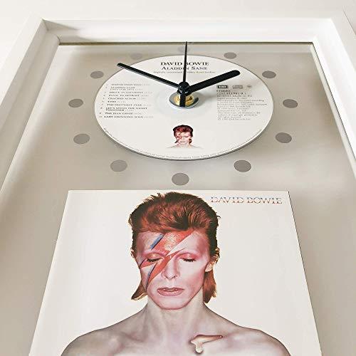 DAVID BOWIE - Aladdin Sane: GERAHMTE CD-WANDUHR/Exklusives Design