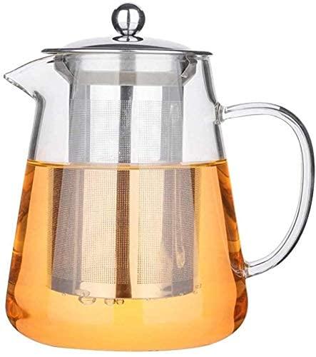 Riyyow Creatividad Gran Copa de Agua fría Hogar frío Botella de Agua Filtro de Vidrio Tetera Conjunto de Tetera de Alta Temperatura Resistente a la Tie de Gran Capacidad