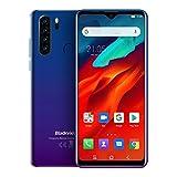 Blackview A80 Pro (2020) Smartphone 4G - 6,49 pollici Android 9.0 4 GB RAM + 64 GB ROM, 4680 mAh Batteria 13 MP + 8 MP Doppia fotocamera Dual SIM Telefono cellulare Blu