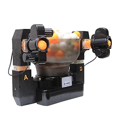 Hörsein Ping-Pong Máquina de Bola Robot Mesa de Doble Cabeza Tenis aleatoria Multi-rotación Multi-Gota Punto automático Servidor