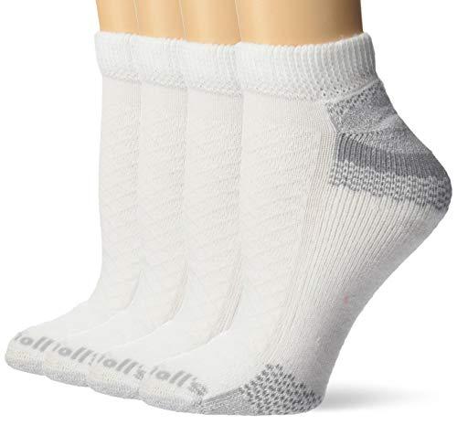 Dr. Scholl's Women's Plus 2 Pack Diabetic & Circulatory Non-Binding Low Cut Socks, White, Shoe Size: 8-12