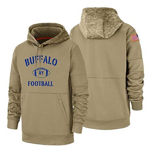 Buffalo Men's Hoodies Pullover Long Sleeve Sport 3D Print Hooded Sweatshirts Winter Warm Fans Gifts XX-Large