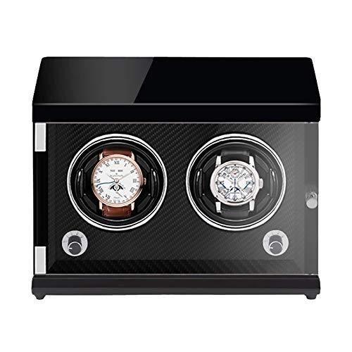 LLSS Bobinadoras de Relojes con Caja de Cuerda - Recargable Agitador de Relojes de Dos Posiciones Enrollador mecánico de Relojes Caja de bobinado automático Vertical para relo