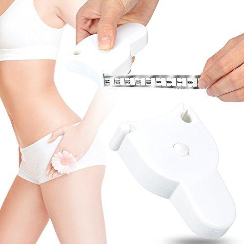 Taille-meetlint, intrekbare tape Lichaamsdieet Meetlint, Schoonheid Lichaamsmassa-index Vetmeting Meet Fitness Meetlint voor lichaam Taille Heup Buste Armen en meer