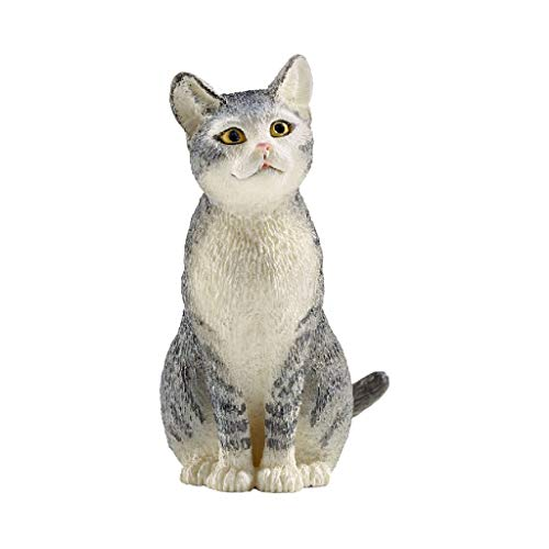 SCHLEICH Farm World Cat Sitting Educational Figurine for Kids Ages 3-8