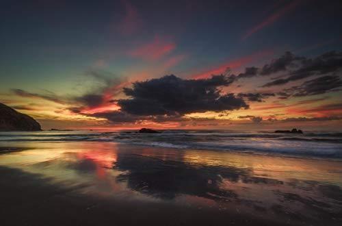 lxlwxh541 Diamondpainting Beach Dawn Sky Clouds Arts Craft Für Home 40X50Cm Round