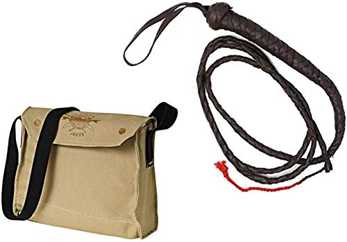 Rubie's Indiana Jones Whip and Satchel Costume Accessories Brown