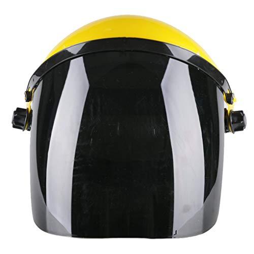 Kakiyi Helmet Welding Transparent Anti-Splash Protective Electric Welder Mask Full Face Anti-Shock Screen Come mostrano le immagini Nero (Visiera), Giallo (Testa)