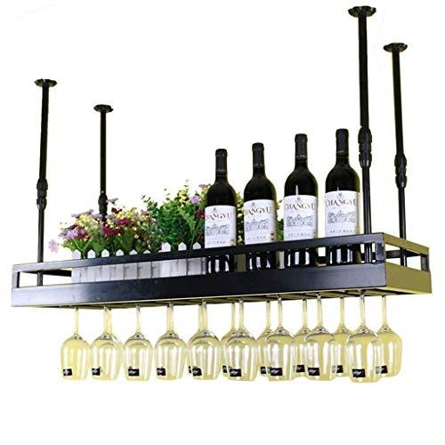 AERVEAL Estante de Vino Techo Techo Estantes de Vino Colgando Vinos Tenedor de Vino Tenedor de Botella de Vino Montado Rústico Montado de Vino Soporte de Vino Titular de Stemware