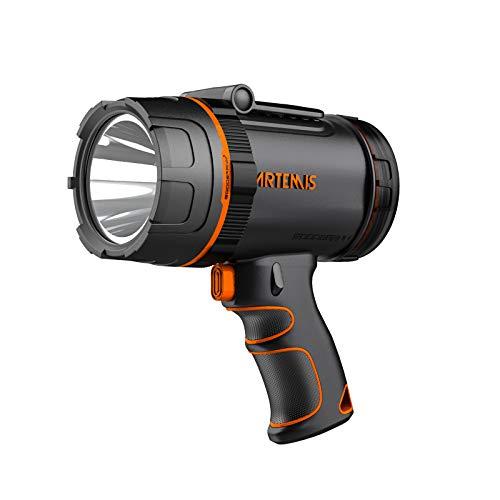 GOODSMANN Spotlight Rechargeable LED Spot Light Flashlight 2000 Lumen Waterproof Handheld lights Portable Lighting with Emergency Whistle 89203-01A