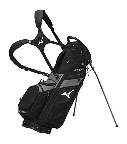 Mizuno 2020 BR-D4 Stand Golf Bag, 6 Way, Black-Charcoal