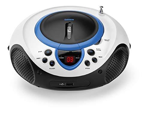 Lenco SCD-38 draagbare FM-radio met CD/MP3-speler (USB 2.0) blauw
