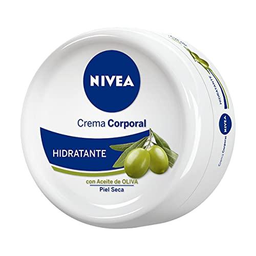 Nivea Crema Corporal Hidratante con Aceite de Oliva, Piel Seca,