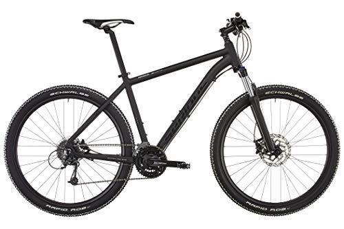 SERIOUS Mountain-Bike Shoreline | 27,5-Zoll Hardtail-MTB mit Scheiben-Bremsen und 24-Gang Shimano-Schaltung in Schwarz Matt