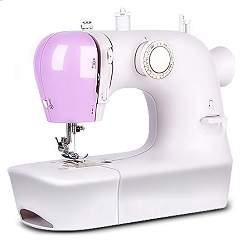 Sewing Machine for Beginners,Mini Portable Simple Electric Overlock Sewing Machine with 12 Built-in Stitches, 2 Speeds and Foot Pedal,Small Household Sewing Handheld Tool