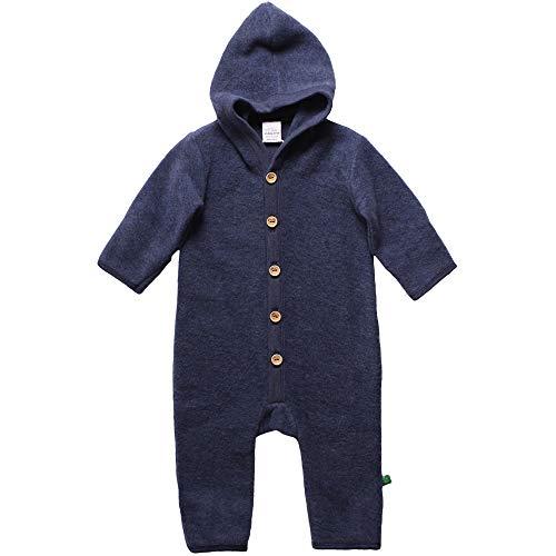 Fred'S World By Green Cotton Fleece Suit with Hood Ensemble, Bleu (Navy Mélange 207680001), 56/62 Mixte bébé